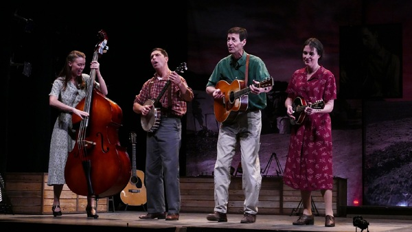 Katie Barton, David Finch, David M. Lutken (as Woody Guthrie), and Leenya Rideout Photo