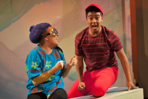 Tay Bass as Archie and Jahbril Cook as Peter in The Snowy Day and Other Stories by Ezra Jack Keats. photo credit: Adam Smith Jr.
