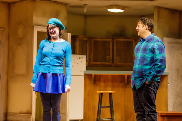 Megan Loomis and Steve Rosen in The Other Josh Cohen. Photo by Goat Factory Media En Photo