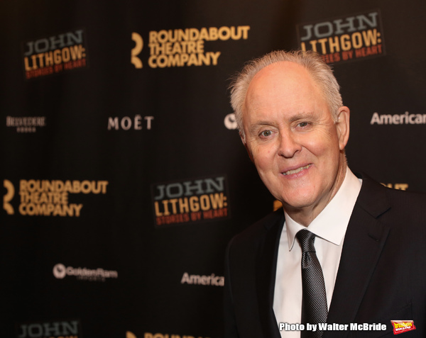 "John Lithgow arriving for his Opening Night performance in ""John Lithgow: Stories by Heart"""