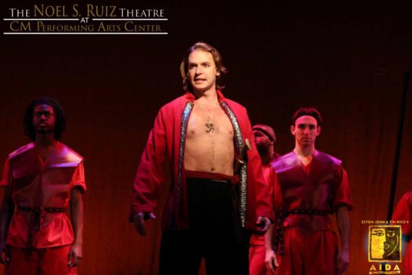 Bobby Peterson as Radames in Elton John & Tim Rice's AIDA at The Noel S. Ruiz Theatre.  Photo Credit: Lisa Schindlar