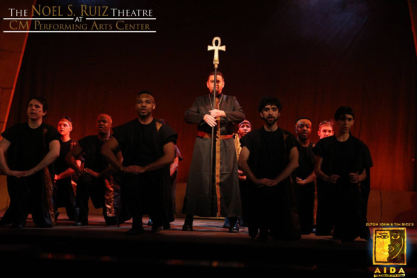 Carl Tese as Zoser in Elton John & Tim Rice's AIDA at The Noel S. Ruiz Theatre.  Photo Credit: Lisa Schindlar