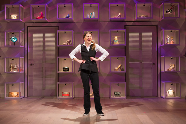 Ashley Austin Morris stars as the highly perceptive Waitress in Theresa Rebeck's The Way of the World. On stage at Folger Theatre