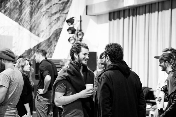 Andrew Garfield and Tony Kushner