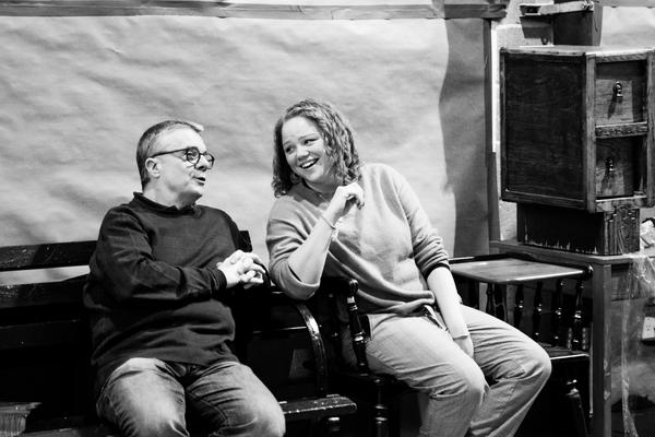 Nathan Lane and Associate Director Miranda Cromwell Photo