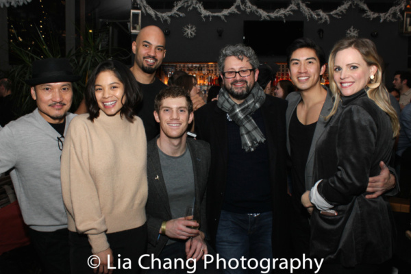 Jon Jon Briones, Eva Noblezada, Nicholas Christopher, Alistair Brammer, Director Laur Photo