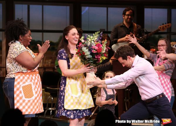 Sara Bareilles with Jason Mraz and cast