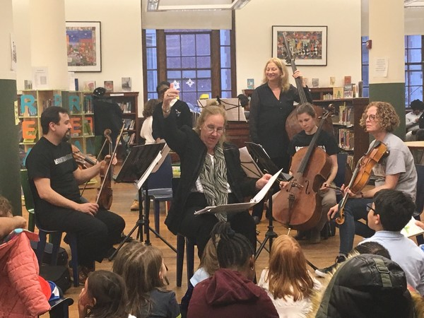 Photo Flash: Met Orchestra Musicians and Manhattan BP Gale Brewer Perform at Harry Belafonte Public Library