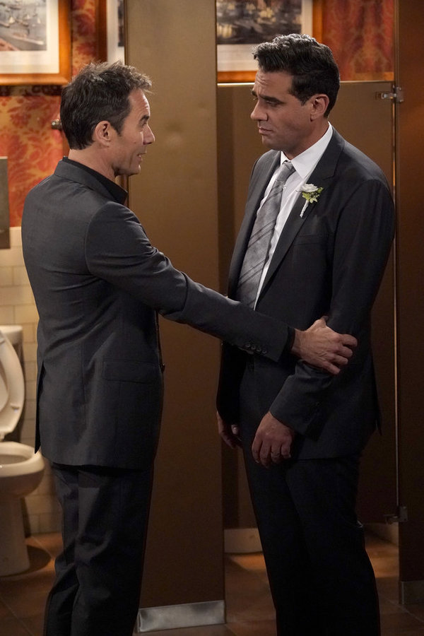 """WILL & GRACE -- """"The Wedding"""" Episode 110 --  Pictured: (l-r) Eric McCormack as Will Truman, Bobby Cannavale as Vince -- (Photo by: Chris Haston/NBC)"""