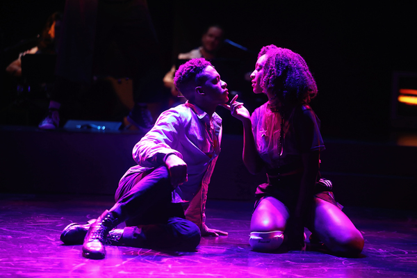 Jamar Williams and Savannah L. Jackson in Passing Strange, directed by Tea Alagić at The Wilma Theater. Photo by Bill Hebert.