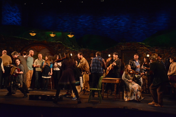 The Cast of Once that includes-Billy Cohen, Elisabeth Evans. Ryan Halsaver, John Thomas Hays, Stephen McIntyre, Rachel Mulcahy, Ryan Michael Owens, Terry Palasz, Bristol Pomeroy, Sam Saint Ours, Douglas Waterbury-Tieman and Lauren Wright