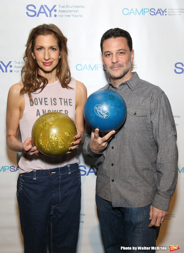 Alysia Reiner and David Alan Basche  Photo