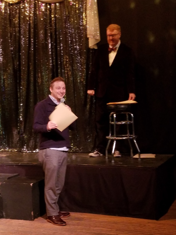 Geoff Button, Associate Producer and Casting Director for Writers Theatre accepting for TREVOR.jpg