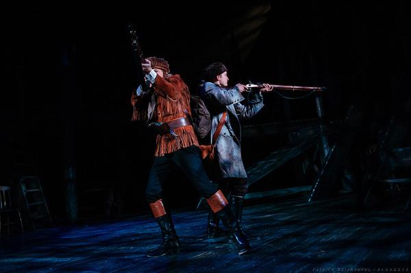 L-R: Leif Norby as Robert McClellan and Michael Morrow Hammack as John Reed.