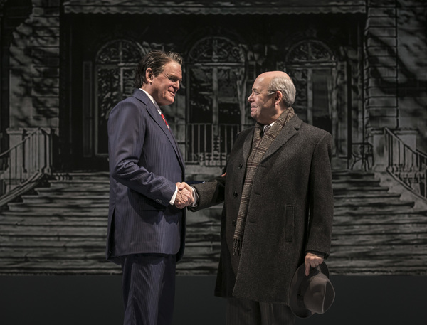 Rob Riley  (Ronald Reagan) and William Dick (Mikhail Gorbachev) in Blind Date by Rogelio Martinez, directed by Robert Falls at Goodman Theatre (January 20 – February 25, 2018). GoodmanTheatre.org/blinddate