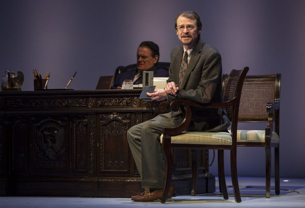 """Thomas J. Cox (Edmund Morris)  in Blind Date by Rogelio Martinez, directed by Robert Falls at Goodman Theatre (January 20 â€"""" February 25, 2018). GoodmanTheatre.org/blinddate"""