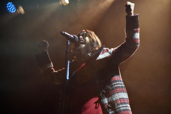 Jared Leto of Thirty Seconds to Mars performs onstage during Citi Sound Vault Presents Thirty Seconds to Mars at Irving Plaza