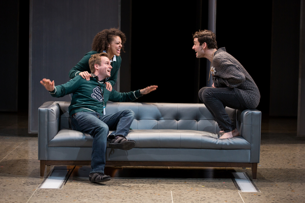 Ryan Spahn, Kelsey Rainwater and Michael Urie  Photo
