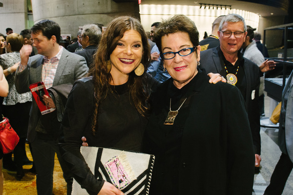 Playwright Mary Kathryn Nagle and Director/Arena Stage Artistic Director Molly Smith at the opening night for Sovereignty, January 24, 2018, at Arena Stage at the Mead Center for American Theater. Photo by Cameron Whitman