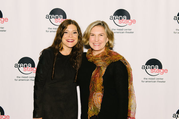 Playwright Mary Kathryn Nagle and Karen Zacarías at the opening night for Sovereig Photo