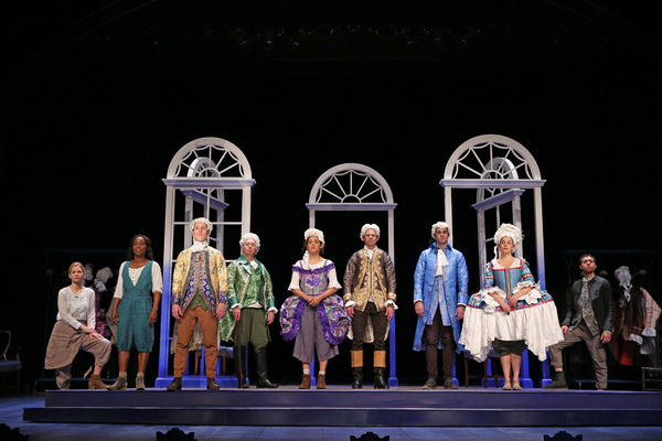 "The company of Timberlake Wertenbaker's ""Jefferson's Garden,� directed by Nataki Garrett at Ford's Theatre. Photo by Carol Rosegg."