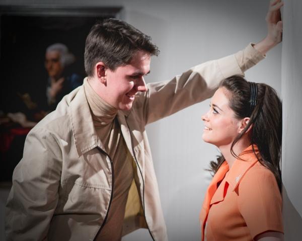Davy (Adam Small) with the all-seeing Maria (Sylvie Briggs). (photo: Jamie Scott-Smith)