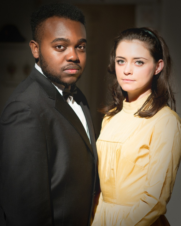 Keeping White House secrets with Maria? Marvin (Jamal Franklin) with Maria (Sylvie Briggs).  What do they know?  Find out in 'Hot Lips and Cold War'. (photo: Jamie Scott-Smith)