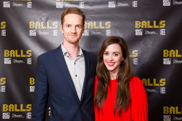 Actors Christopher James Baker (True Detective, Ozark) and Christina Bennett Lind (The Heart of Robin Hood, House of Cards) joined the opening night celebration of BALLS. Photo by Nathaniel Johnston