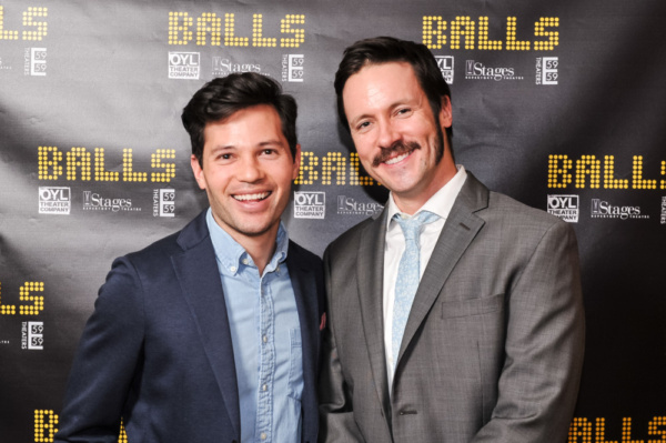 Jason Tam (A Chorus Line, IF/Then, K Pop, One Life to Live) and Danny Bernardy (Terry Berry) were on hand to celebrate the opening night of BALLS with the cast and creative team. Photo by Nathaniel Jo