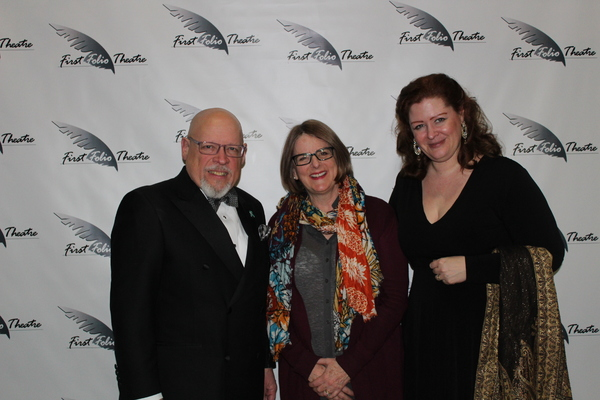 David Rice, First Folio Theatre Co-Founder, Wendy MacLeod, playwright, and Janice L.  Photo