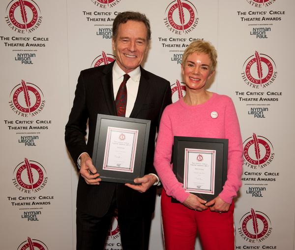 Best Actor Bryan Cranston and Best Actress Victoria Hamilton