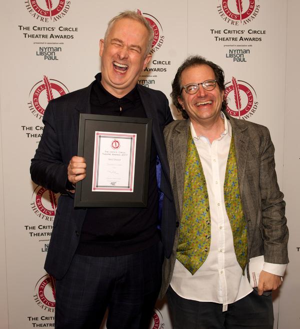 Best Director Dominic Cooke Follies) and presenter Matt Wolf