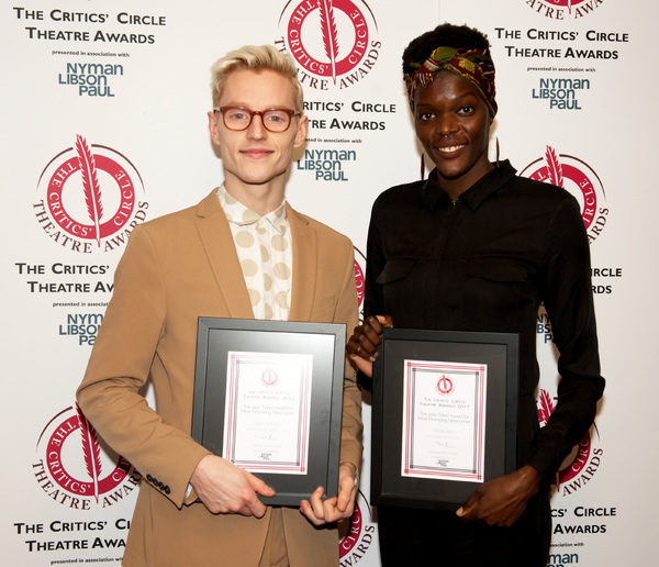 Most Promising Newcommers John McCrea & Sheila Atim Photo