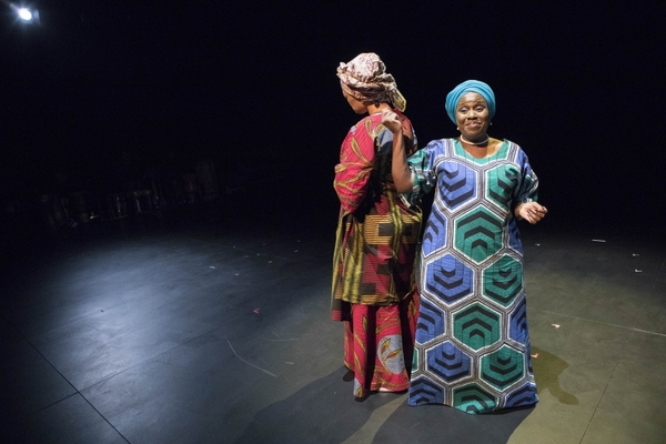 Elvina Ibru and Joke Silva in HEAR WORD! Naija Woman Talk True. Photo: Gretjen Helene Photography
