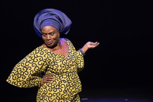 Taiwo Ajai-Lycette in HEAR WORD! Naija Woman Talk True. Photo: Gretjen Helene Photography