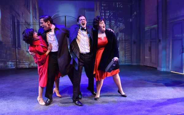 (L to R) Aja Wiltshire, Jim DeSelm, Matt Crowle and Neela Barron in MERRILY WE ROLL A Photo