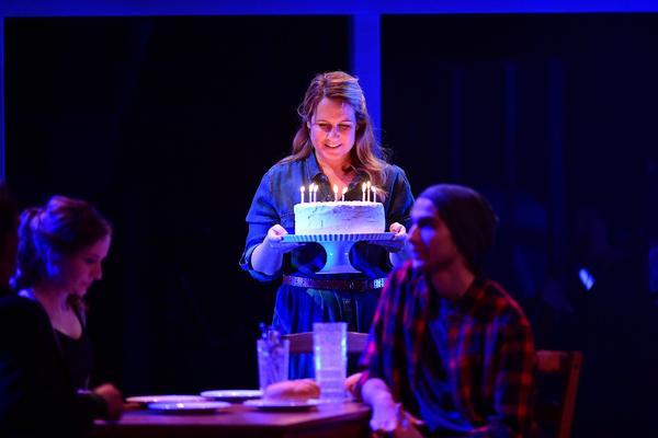 Krissy Fraelich as Diana, with Gabe's birthday cake Photo
