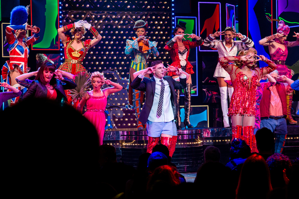 Caroline Bowman, Kirstin Maldonado, Jake Shears, J. Harrison Ghee and the cast of KINKY BOOTS