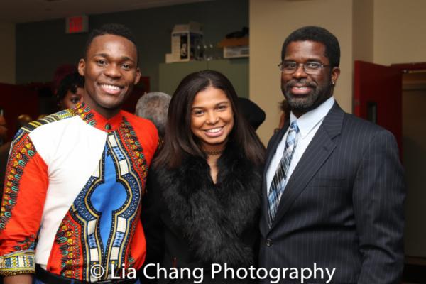 Borris York, Chantal Jean-Pierre and her husband Producer Marshall Jones III, Crossroads Theatre Company