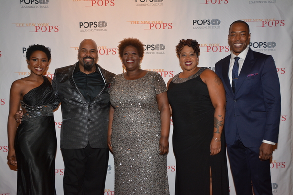 Anastasia Talley, James Monroe Iglehart, Capathia Jenkins, Crystal Monee Hall and Mic Photo