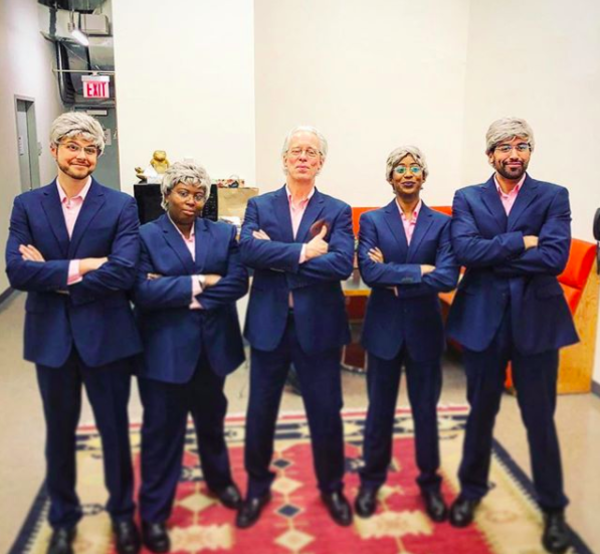 Jerry Springer The Opera (Off-Broadway): @bagreer 2 show day here at #JerrySpringerTheOpera!  #sip #Repost @thenewgroupnyc with @get_repost ・・・ One of these Jerrys is the REAL Jerry! Hmmmm