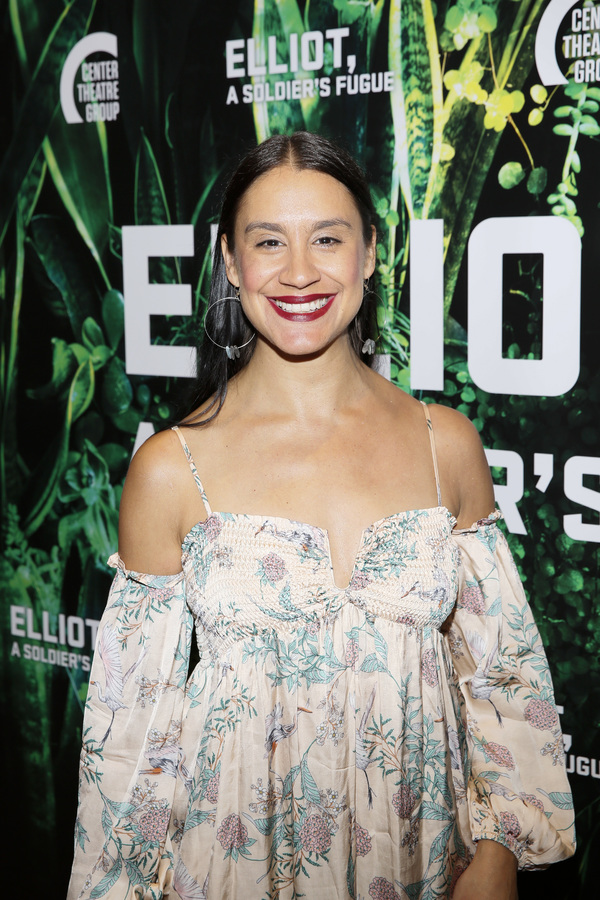 """Actor Sabina Zuniga Varela attends the opening night performance of """"Elliot, A Soldier's Fugue� at Center Theatre Group's Kirk Douglas Theatre on February 3, 2018, in Culver City, California. (Photo by Ryan Miller/Capture Imaging)"""