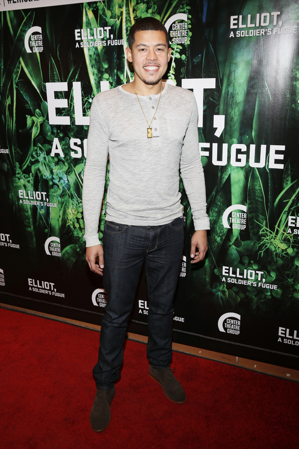 "Elliot Ruiz attends the opening night performance of �""Elliot, A Soldier's Fugue"" at Center Theatre Group's Kirk Douglas Theatre on February 3, 2018, in Culver City, California. (Photo by Ryan Miller/Capture Imaging)"