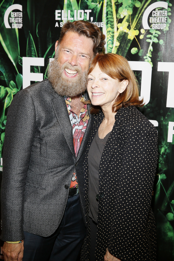"Daniel Henning and actor Frances Fisher attend the opening night performance of ""Elliot, A Soldier's Fugue� at Center Theatre Group's Kirk Douglas Theatre on February 3, 2018, in Culver City, California. (Photo by Ryan Miller/Capture Imaging)"