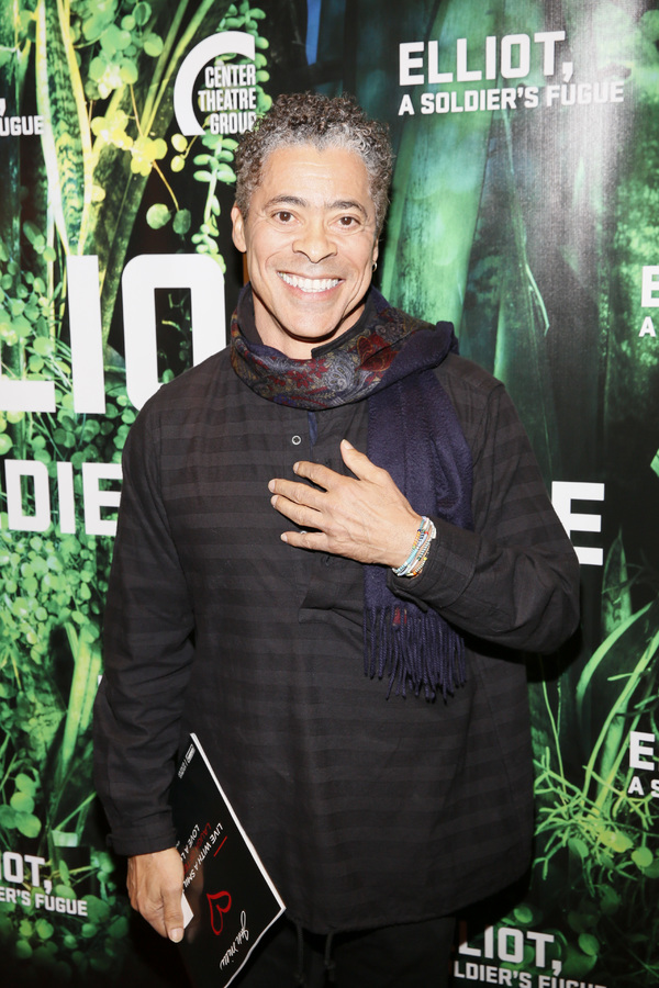 """Actor Dominic Hoffman attends the opening night performance of �""""Elliot, A Soldi Photo"""