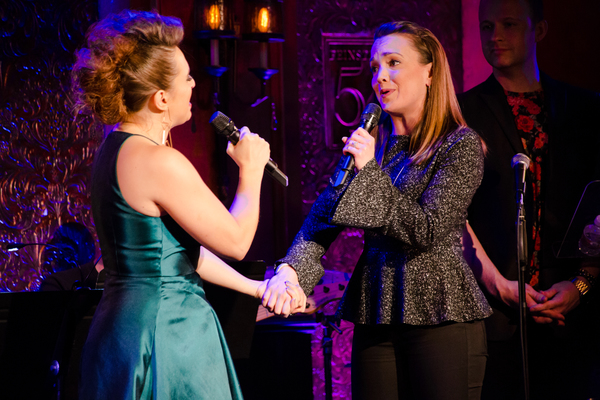 Jessica Vosk and Kara Lindsay in Being Green at 54 Below