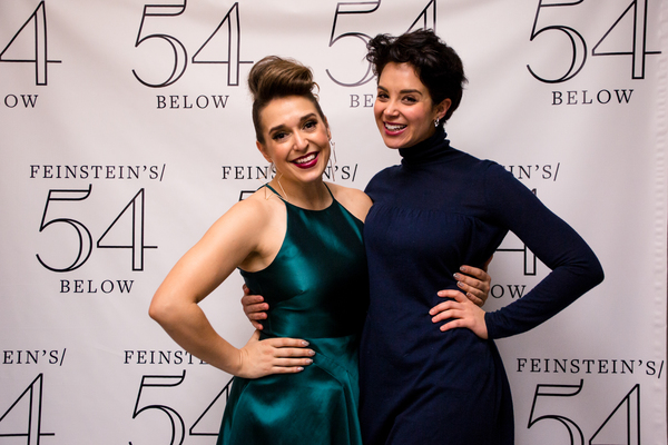 Jessica Vosk and Alexandra Silber at Being Green at 54 Below