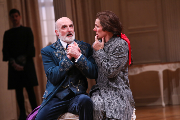 RAY DOOLEY as Orgon and JOEY COLLINS as Tartuffe Photo