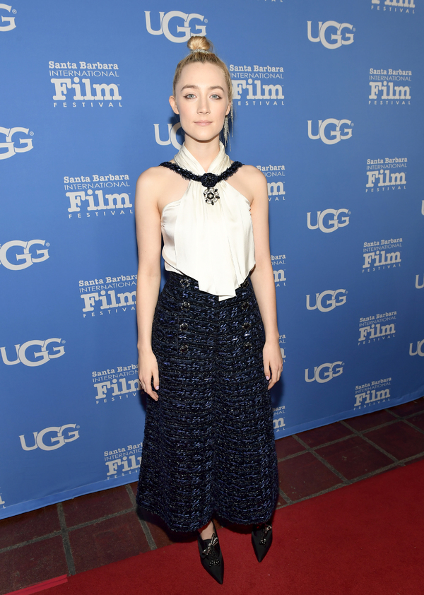 Actress Saoirse Ronan at the Santa Barbara Award Honoring Saoirse Ronan Presented By UGG during The 33rd Santa Barbara International Film Festival at Arlington Theatre on February 4, 2018 in Santa Barbara, California.  (Photo by Matt Winkelmeyer/Getty Ima