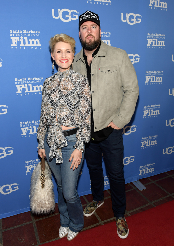 Actor Chris Sullivan (right) and Rachel Reichard (left) attend the Santa Barbara Award Presented by UGG® at the Santa Barbara International Film Festival